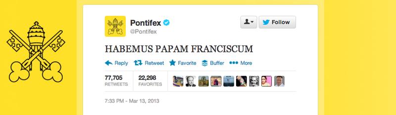 Pontifex tweet